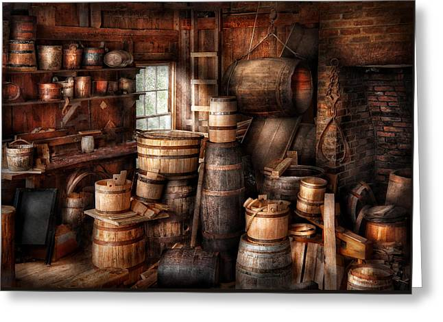 Bar - Wine Maker - Just Add Wine  Greeting Card by Mike Savad