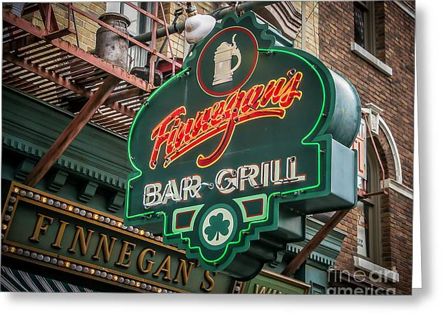 Store Fronts Greeting Cards - Bar and Grill Greeting Card by Perry Webster