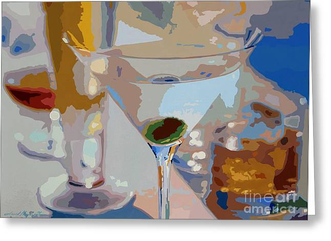 Cognac Greeting Cards - Bar Drinks Greeting Card by David Lloyd Glover