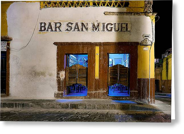 Bar San Miguel Greeting Cards - Bar San Miguel Greeting Card by Ian White
