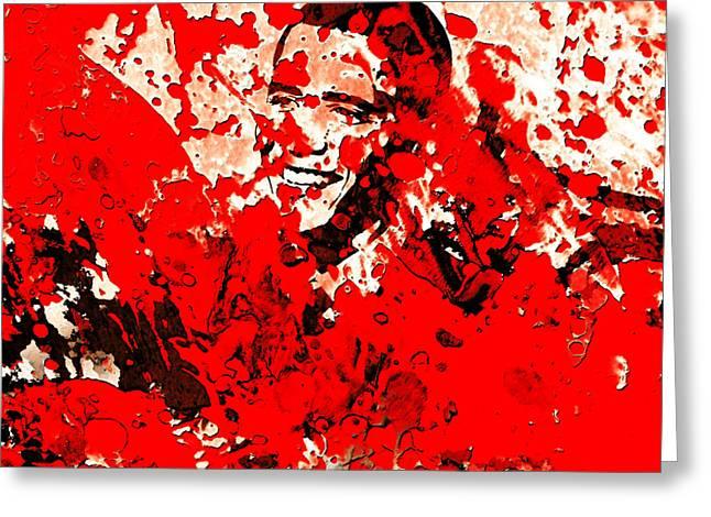 Barack Obama 44b Greeting Card by Brian Reaves