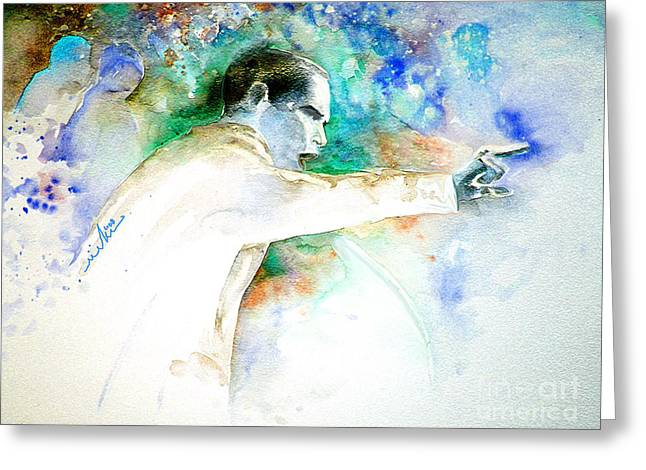 Barack Obama Pointing At You Greeting Card by Miki De Goodaboom