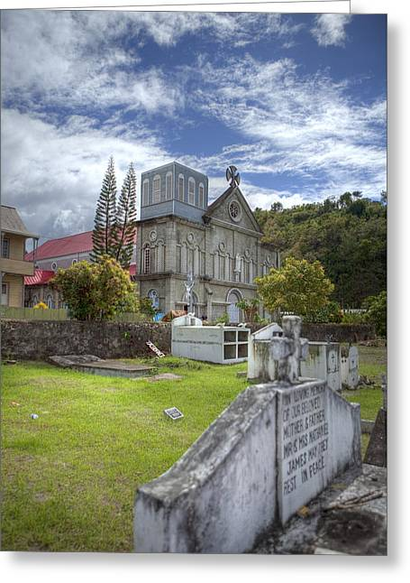 Barbados Cemetary Greeting Card by Jon Glaser
