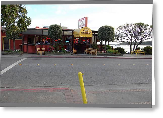 Carolyn Donnell Greeting Cards - Barbaras Fishtrap Restaurant II Greeting Card by Carolyn Donnell