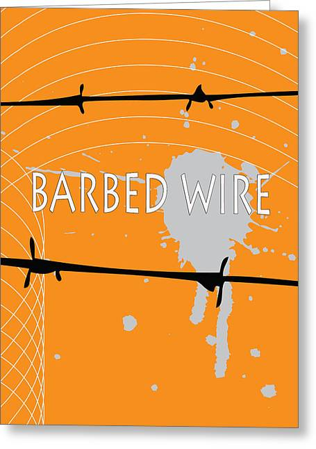 Installation Art Greeting Cards - Barbed Wire Greeting Card by Tina M Wenger