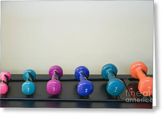 6 Greeting Cards - Barbells Greeting Card by Andersen Ross