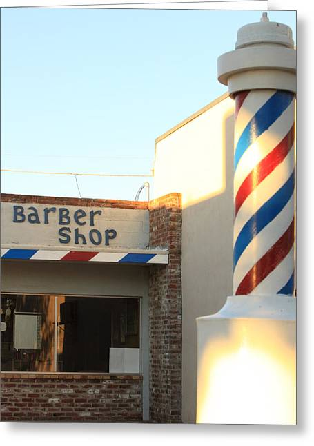 Solano Photographs Greeting Cards - Barber Shop Greeting Card by Troy Montemayor