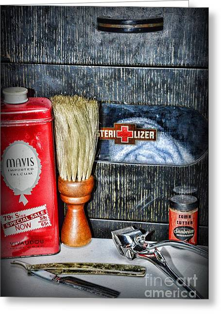 Barber The Sterilizer Greeting Card by Paul Ward