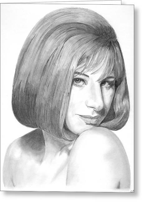 Barbra Streisand Greeting Card by Rob De Vries