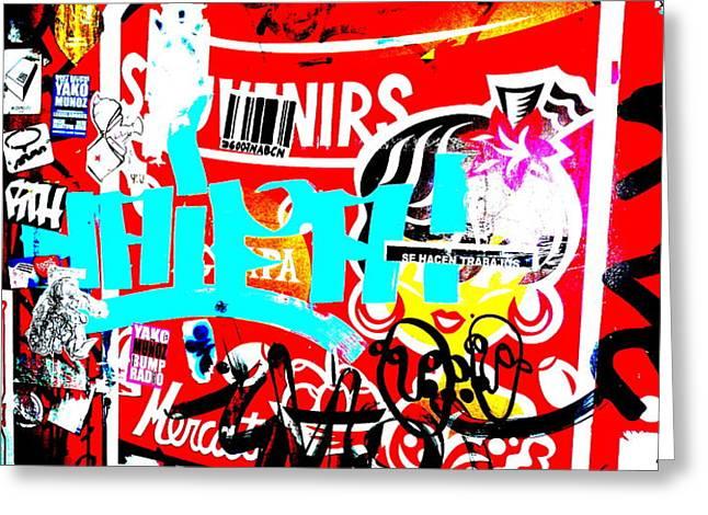 Barcelona Street Graffiti Greeting Card by Funkpix Photo Hunter