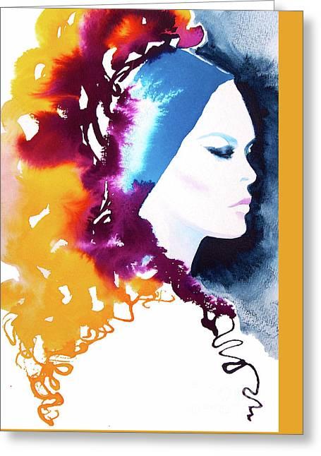 Bardot Brigitte Gold Greeting Card by Kimberly Godfrey
