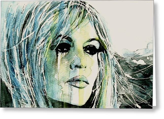 Bardot Greeting Card by Paul Lovering