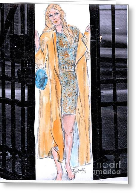 Clothing Mixed Media Greeting Cards - Barefoot Break Out Greeting Card by P J Lewis