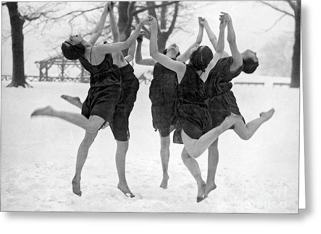 Barefoot Dance In The Snow Greeting Card by American School