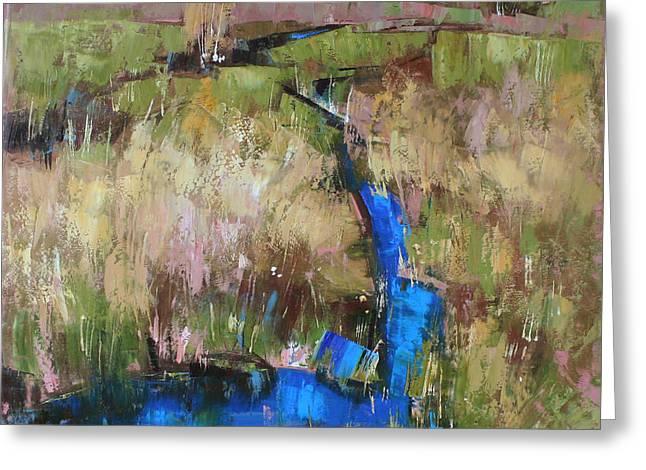 Dew Paintings Greeting Cards - Barefoot in the dew  Greeting Card by Anastasija Kraineva