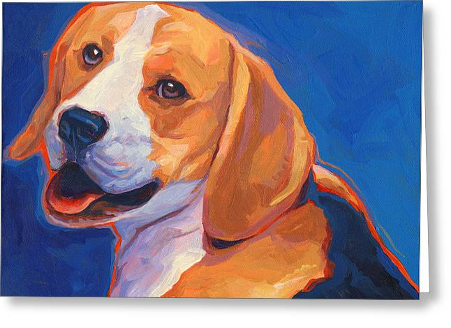 Beagle Paintings Greeting Cards - Barely Legal Beagle Greeting Card by Shawn Shea
