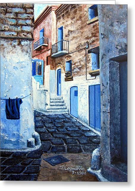 Leonardo Ruggieri Greeting Cards - Bari Italy Greeting Card by Leonardo Ruggieri
