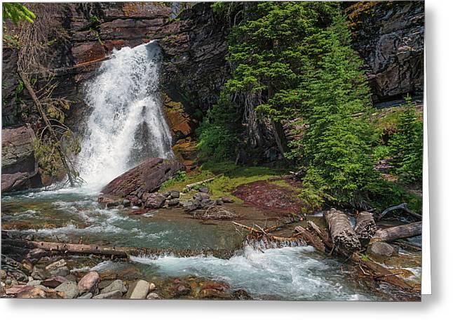 Baring Falls Greeting Card by Loree Johnson