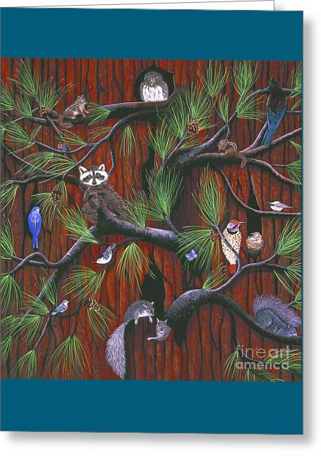 Stellar Paintings Greeting Cards - Bark Greeting Card by Jennifer Lake
