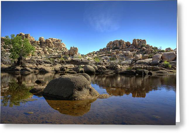 Barker Greeting Cards - Barkers Dam Reservoir Greeting Card by Peter Tellone