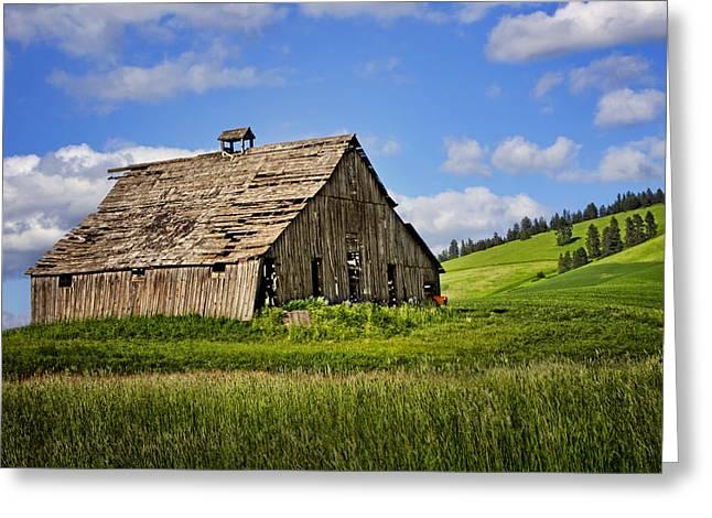 Run Down Greeting Cards - Barn #1 - Palouse - Washington Greeting Card by Nikolyn McDonald