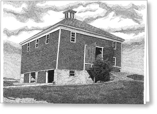 Best Sellers -  - Barn Pen And Ink Greeting Cards - Barn 7 Greeting Card by Joel Lueck