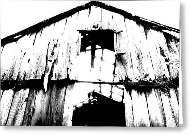 White Barns Greeting Cards - Barn Greeting Card by Amanda Barcon