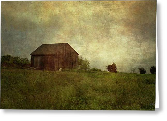 Barn And Meadow Greeting Card by Dave Gordon