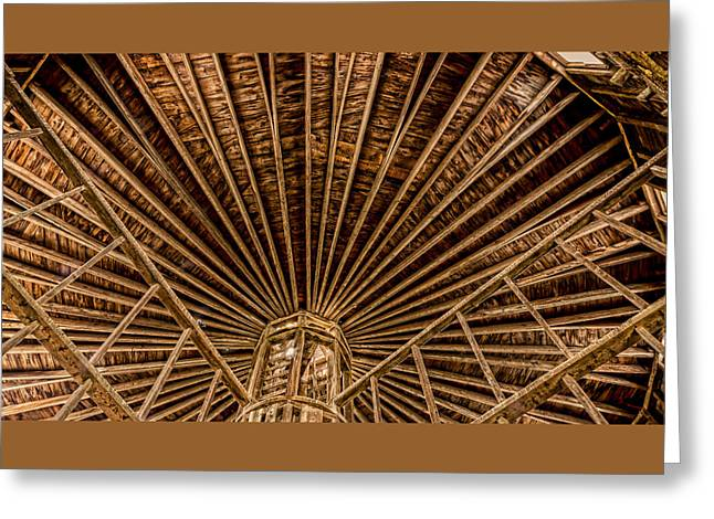 Round Barn Greeting Cards - Barn Beams Greeting Card by Stephen Stookey