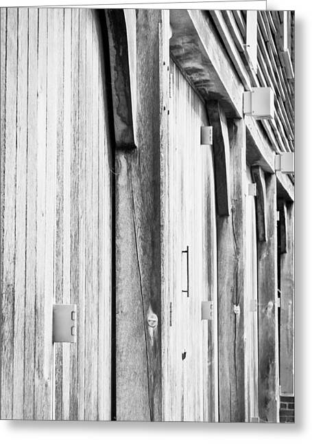Shed Photographs Greeting Cards - Barn detail Greeting Card by Tom Gowanlock