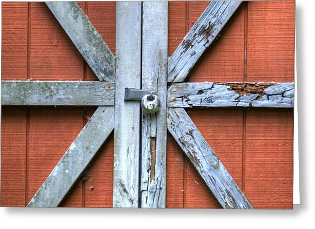 Barn Door 2 Greeting Card by Dustin K Ryan
