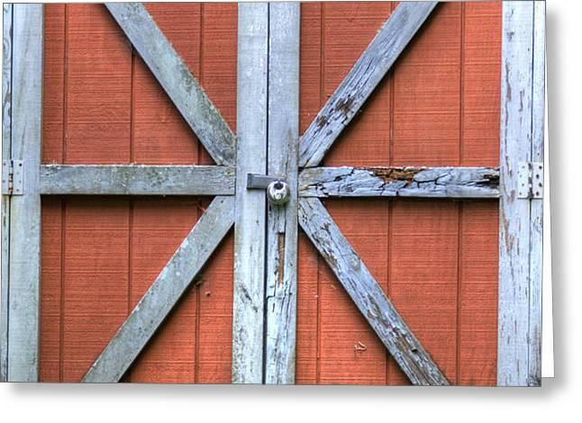 Barn Door 3 Greeting Card by Dustin K Ryan