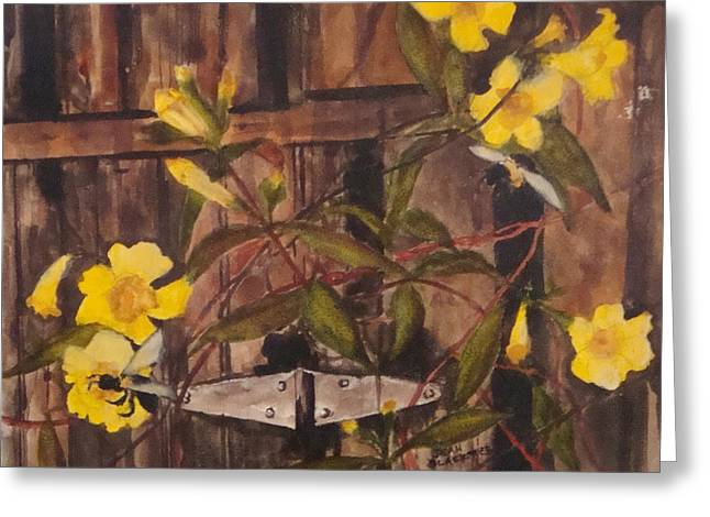 Jean Blackmer Greeting Cards - Barn Door Hinge Greeting Card by Jean Blackmer