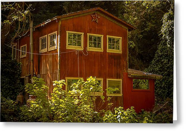 Big Sur Greeting Cards - Barn House at Pfeiffer Beach Greeting Card by Matt Daryl Ober