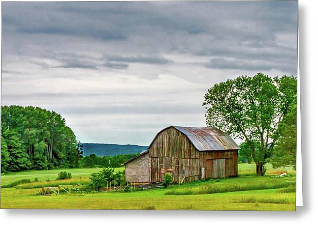 Barn In Bliss Township Greeting Card by Bill Gallagher