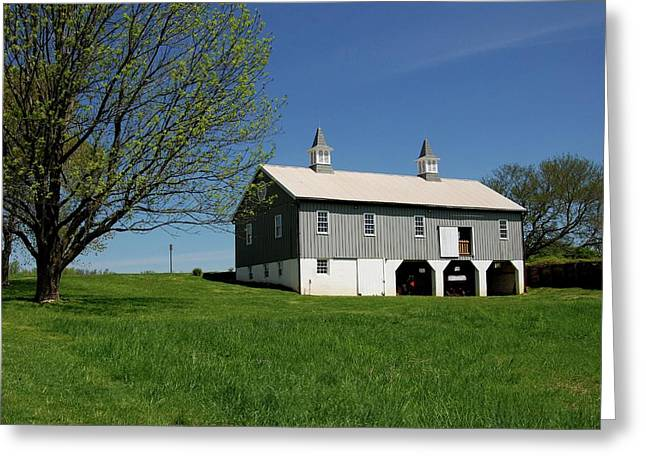 Recently Sold -  - Bayonet Greeting Cards - Barn In The Country - Bayonet Farm Greeting Card by Angie Tirado