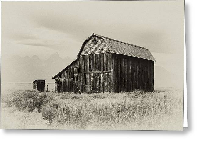 Outbuildings Greeting Cards - Barn in the Grand Tetons Greeting Card by Hugh Smith