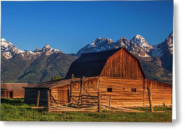 Teton Greeting Cards - Barn in the Tetons Greeting Card by Andrew Soundarajan