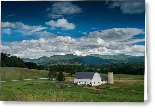 Warren Wilson Greeting Cards - Barn in the Valley Greeting Card by Joye Ardyn Durham