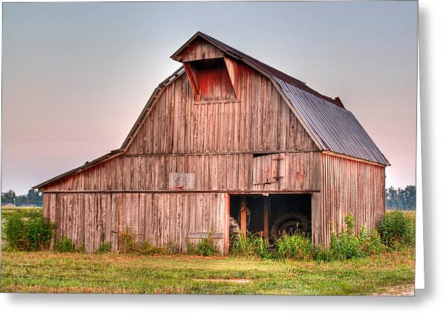 Lawrence County Greeting Cards - Barn near Walnut Ridge Arkansas Greeting Card by Douglas Barnett
