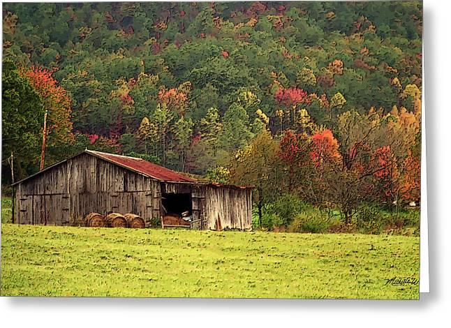 Barn North Carolina 1994 Greeting Card by Michelle Wiarda