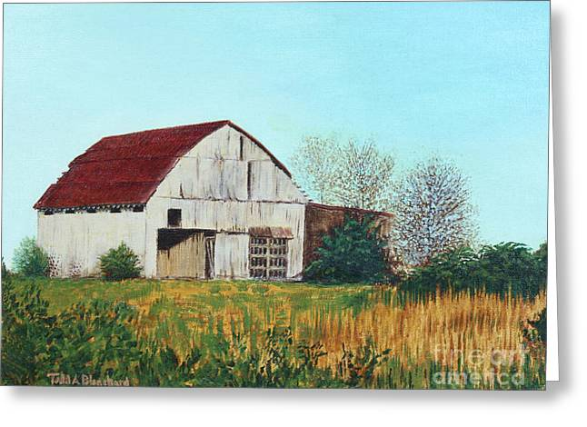 Tn Paintings Greeting Cards - Barn on Lovell Road Greeting Card by Todd A Blanchard