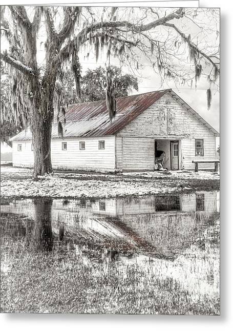 Winter Scenes Rural Scenes Photographs Greeting Cards - Barn Reflection Greeting Card by Scott Hansen