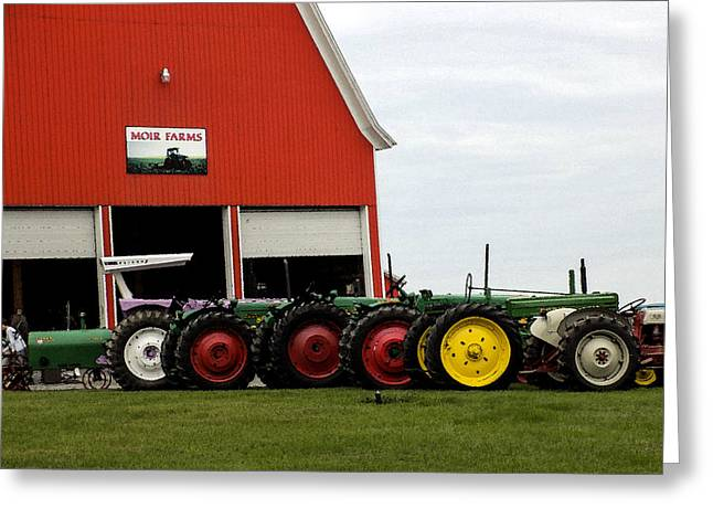 Maine Farms Greeting Cards - Barn Sale and Tractors Greeting Card by William Tasker