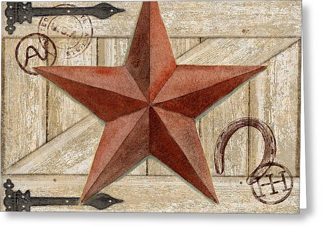 Country Western Greeting Cards - Barn Star I Greeting Card by Paul Brent