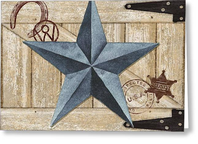 Country Western Greeting Cards - Barn Star II Greeting Card by Paul Brent