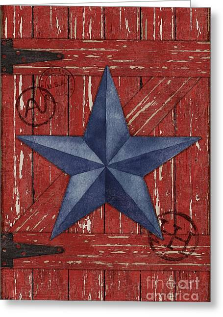 Country Western Greeting Cards - Barn Star - Vertical Greeting Card by Paul Brent