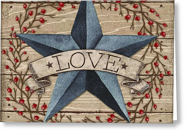 Country Western Greeting Cards - Barn Star with Berries II Greeting Card by Paul Brent