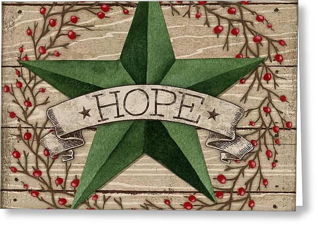 Country Western Greeting Cards - Barn Star with Berries III Greeting Card by Paul Brent