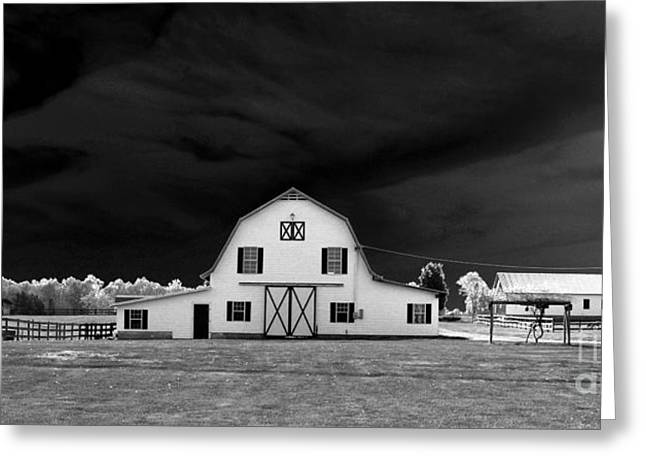Barns Greeting Cards - Barn storm Greeting Card by Julian Bralley
